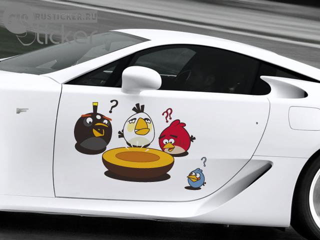 Наклейки на авто angry birds 24