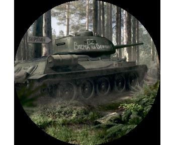 На запасное колесо танк 2