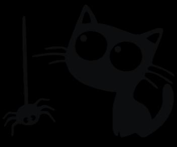 Котик и паучок