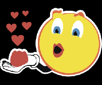 Смайлик поцелуй любовь