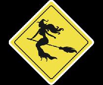 Осторожно ведьма за рулем