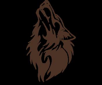 Волк воющий
