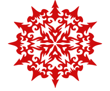 Узорчатая снежинка