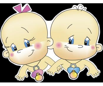 Двойняшки на выписку из роддома