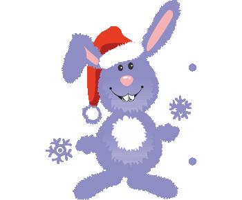 Снежный зайка