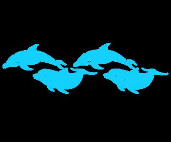 4 дельфина