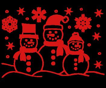 Снеговики украшение витрин