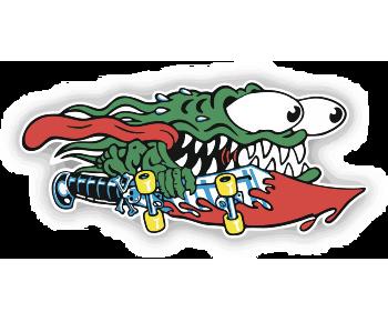 Монстр-скейтбордист