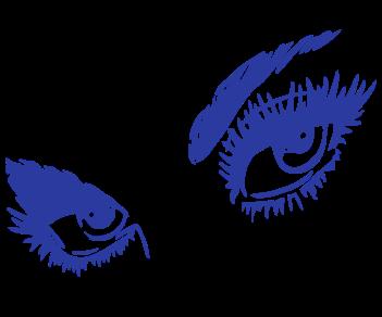 Глаза девушка