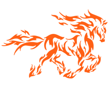 Лошадь огонь