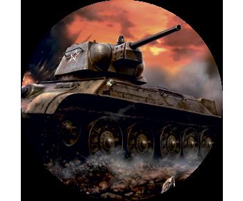 На запаску танк