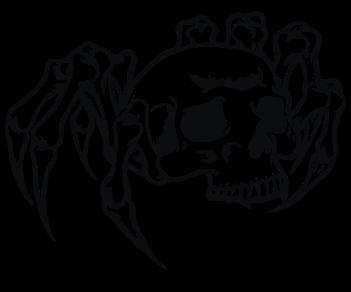 Череп паук