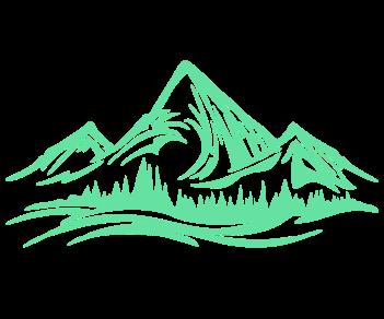 Горы лес 3