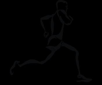Спортсмен бег