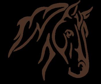 Конь силуэт