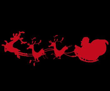 Санта Клаус и олени