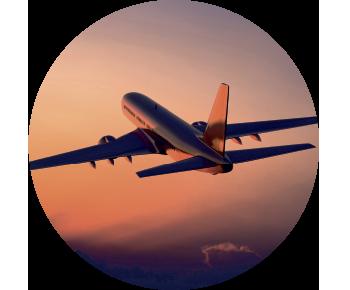 На запасное колесо самолет