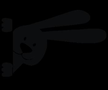 Кролик на дверь