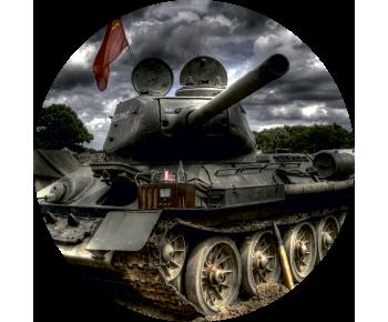 На запасное колесо танк