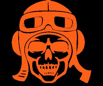 Авиатор пилот череп