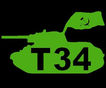 Танк Т 34 флаг
