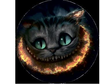 На запаску чеширский кот