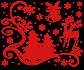 Витрина Новый год наклейка