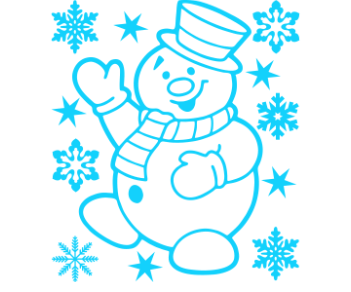 Снеговик украшение витрин