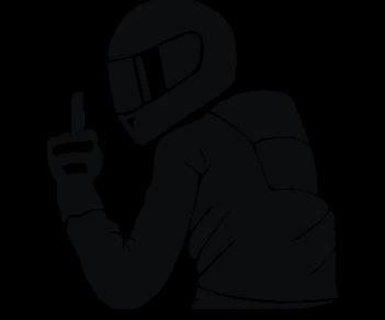 Благодарный мотоциклист