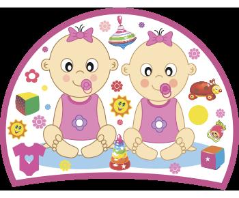 Двойняшки сестрички на выписку из роддома