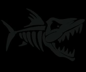 Скелет пираньи