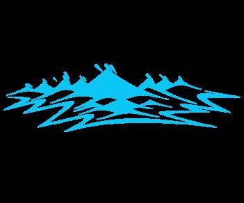 Узор горы на борт