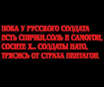Бойтесь русского солдата